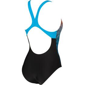 arena Daytrip New Swim Pro Back LB One Piece Swimsuit Dames, zwart/turquoise